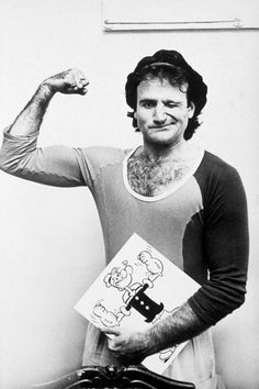 As Popeye in 1980 (left), and arriving to open for Martin Mull at the Roxy in Hollywood in 1979. | Robin Williams: A Life In Pictures