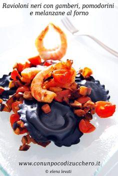 Tortellini, Gourmet Recipes, Pasta Recipes, Dessert Pasta, Best Party Food, Wine Dinner, Black Food, Food Illustrations, Gnocchi