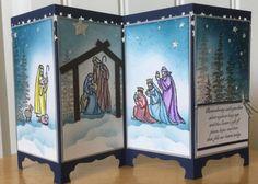 Stampin Up handmade Christmas card - screen divider - Christmas story