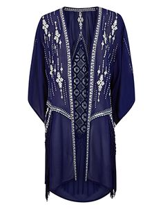 Adana Embroidered Kimono