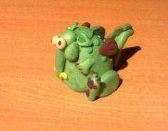 Sculpey clay green dragon