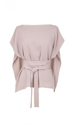 Tibi Savanna Crepe Front Tie Cape Top and other apparel, accessories and trends. Browse and shop related looks. Mode Outfits, Fashion Outfits, Womens Fashion, Fashion Tips, Ärmelloser Mantel, Look Retro, Mein Style, Front Tie Top, Minimal Chic