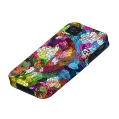 Colorful Romantic Vintage Floral Pattern Vibe iPhone 4 Case