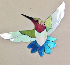 PRECUT STAINED GLASS KIT MALE HUMMINGBIRD MOSAIC INLAY GARDEN STONE CRAFT #Unbranded Stained Glass Kits, Stained Glass Flowers, Stained Glass Designs, Stained Glass Panels, Stained Glass Projects, Stained Glass Patterns, Mosaic Art, Mosaic Glass, Stained Glass Suncatchers