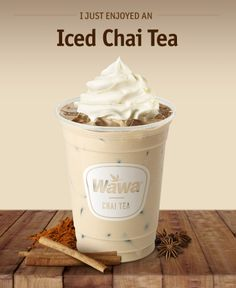 Wawa Hot Iced Beverages Chai Tea Latte