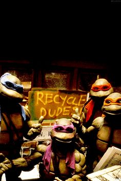 Ninja Turtles want you to go green!