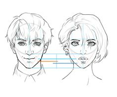 Male and female face comparisons