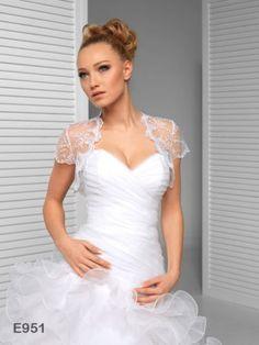 Short-Cap-Sleeve-Lace-Wedding-Jacket-Bridal-Bolero-Jacket-E951