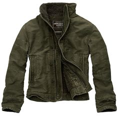 ABERCROMBIE & FITCH* SlimJacket, Olive
