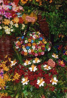 Flowers made from Italian confetti (jordan almonds). Made in Sulmona