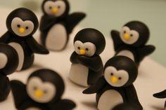 Fondant Penguins omg I think I died of cuteness