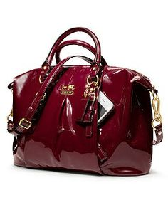 bdab94a07994 COACH MADISON PATENT LEATHER JULIETTE CRIMSON SHOULDER HOBO SATCHEL BAG  HANDBAG