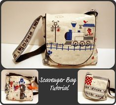 sew grown: Scavenger Bag Tutorial I made this and it is super cute!