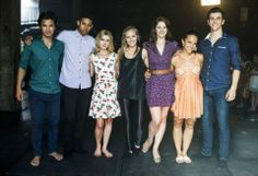 Jordan Rodrigues (Christian), Keiynan Lonsdale (Ollie), Isabel Durant (Grace), Alicia Banit (Kat), Xenia Goodwin (Tara), Dena Kaplan (Abigail) and Thomas Lacey (Ben) in the Werner Film Production Dance Academy Series 3.