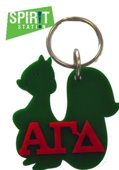 Alpha Gamma Delta Symbol Keychain-On sale this week! (1/20-1/26/13)