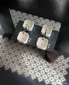 bathroom with great tile!