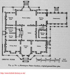 Kensington Palace Gardens, original ground-floor plan