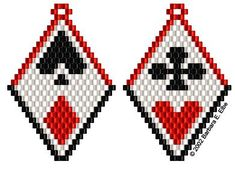 Beaded Images - Playing Card Earrings