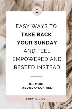 Overwhelmed at the thought of the coming week? Make the most of your weekend with this guide for How to Prevent the Sunday Scaries. What are favorite additions to your Sunday routine to prepare for Monday? A mental health therapist shares her tips for pre Sunday Routine, Sunday Scaries, Low Mood, Mental Health Services, Dealing With Depression, How To Get Better, Self Care Activities, Self Compassion, Take Back