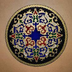 Tezhip Sanatı Islamic Art Pattern, Arabic Pattern, Pattern Art, Pattern Design, Islamic Calligraphy, Calligraphy Art, Persian Calligraphy, Motifs Islamiques, Motif Oriental