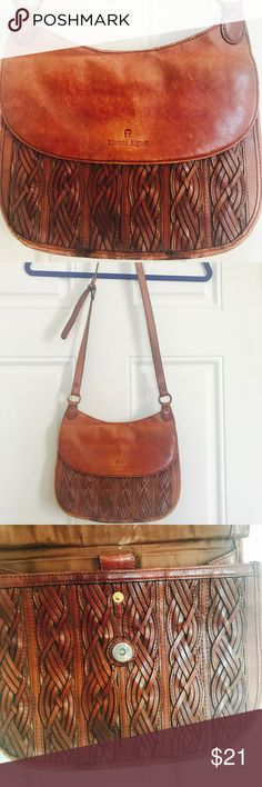 Vintage Leather Etienne Aigner Bag Has some wear, but still plenty of life left in it! Great for a festival. Etienne Aigner Bags Shoulder Bags