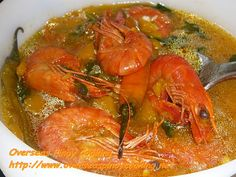 Kinalabasang Sugpo is similar to my Suam na Kalabasa at Hipon, Kinalabasang Hipon. Cooking is basically the same. I did not have the right Pilipino vegetables for this dish so I have to use vegetables that are available in my present location. Shrimp Recipes, Rice Recipes, Soup Recipes, Chicken Recipes, Dinner Recipes, Filipino Dishes, Filipino Recipes, Asian Recipes, Ethnic Recipes