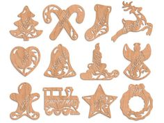 SLDK334 - 12 'Olde Christmas' Fretwork Ornaments