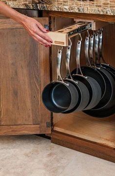 Tiny House Storage, Diy Kitchen Storage, Home Decor Kitchen, Diy Storage, Kitchen Organization, Kitchen Furniture, New Kitchen, Storage Organization, Organized Kitchen