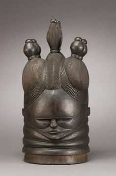 Sowei Mask, late 1800s, wood, unknown Mende artist, African, Sierra Leone
