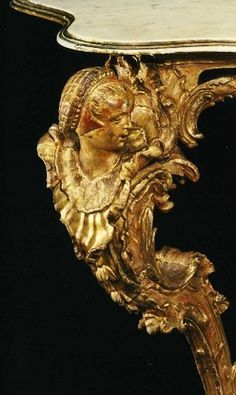 Gilded Rococo table leg detail - from Tina's Choices Baroque, Art Nouveau, Or Noir, Rococo Style, Touch Of Gold, Table Legs, Antique Furniture, Fine Furniture, Furniture Design