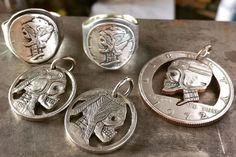 steve west silver piston nickel sterling  hobo jewelry  (Note: In God We Rust.  Classic.)