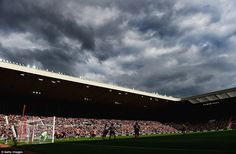 Clouds hover above the Stadium of Light as a full house watch Sunderland and United do battle on Sunday afternoon