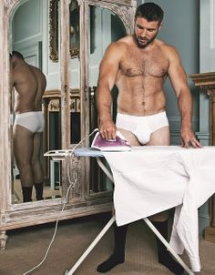 The flat needs a good tidy up but thankfully #BenCohen dropped by to deal with all my ironing... #SaturdayHunk