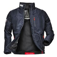 Helly Hansen Men& Crew Midlayer Jacket 30253 Navy is part of Mens jackets casual print access zip in the liner makes this a true favorite among clubs and teams - Sailing Jacket, Mode Man, Revival Clothing, Helly Hansen, Mens Fashion, Fashion Outfits, Ski Fashion, Adidas Outfit, Men Casual