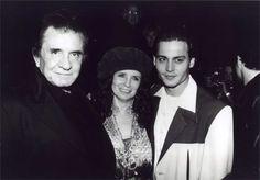 Johnny Cash, June Carter and Johnny Depp
