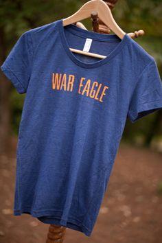 "Women's Auburn ""War Eagle"" Vintage Tee. $34.95, via Etsy."