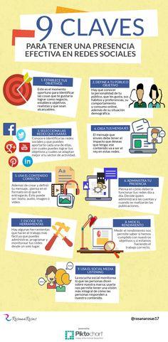 9 claves para tener presencia efectiva en Redes Sociales