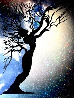 This Tree (Reveal a Secret Night) by Lois - Use the 'Create Similar' button to commission an artist to create your own artwork. Create Yourself, Create Your Own, Projects To Try, Celestial, Button, Night, Digital, Artist, Artwork