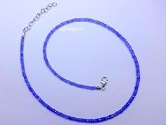 925sterling silver nacklace 39cts natural faceted roundels Tanzanite bluecolour…
