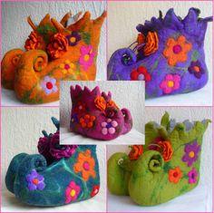 Made to order  Handmade felted wool slippers by FeltedArtToWear, £60.00