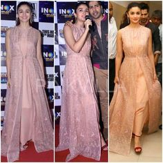 Yay or Nay : Alia Bhatt in Anita Dongre Pakistani Dresses, Indian Dresses, Indian Outfits, Indian Attire, Indian Wear, New Design Gown, Crop Dress, Ethnic Dress, Sanha