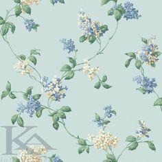 Tapet LILIAC TRAIL din colectia CASA BELLA. Blue Wallpaper.