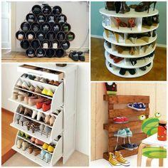 ideas para guardar zapatos. Muebles zapateros originales.