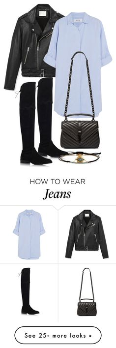 """Untitled #3289"" by bubbles-wardrobe on Polyvore featuring moda, IRO, MiH Jeans, Stuart Weitzman, Yves Saint Laurent i IaM by Ileana Makri"