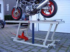 Bauanleitung Motorrad Hebebühne 220cm x 80cm 400Kg Last | eBay
