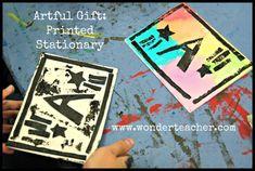Artful Gift: Printed Stationary