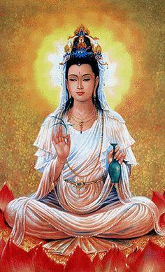 "Buddha Kwan Yin: ""The one who hears the cries of the world."""