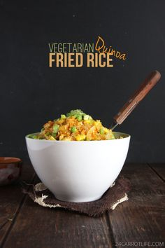 #Vegetarian Quinoa Fried Rice // 24 Carrot Life #healthy #recipe #fitfluential