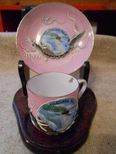 Dragonware pink tea cup