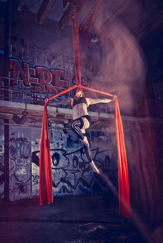 originally a strengthening circus art, aerial silks, suspended trapeze, and…